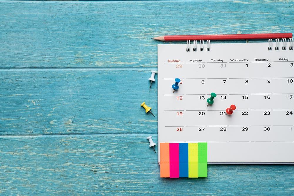 塾 カレンダー